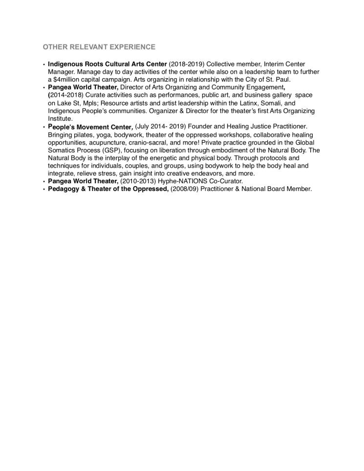 Alejandra performance resume page2